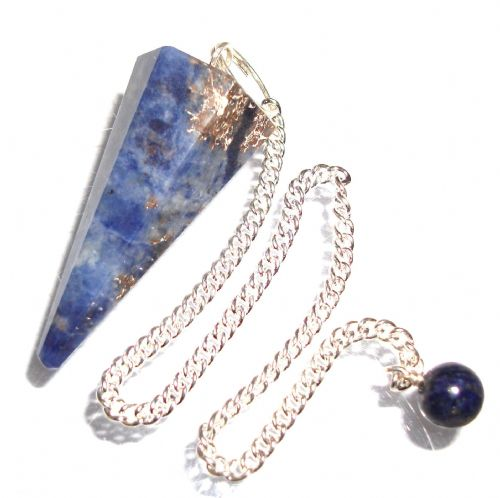 Sodalite Dowsing Pendulum Crystal Point